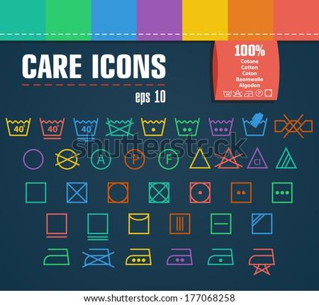 Care icon set. - stock vector