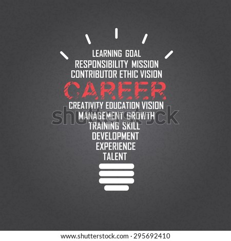 career background, creative business idea. text can be added. vector illustration - stock vector