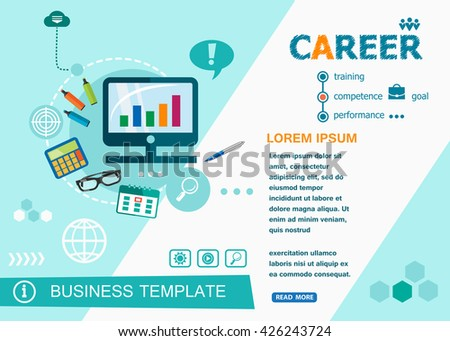 Career concepts of words learning and training. Career flat design banners for website and mobile website, easy to use and highly customizable.