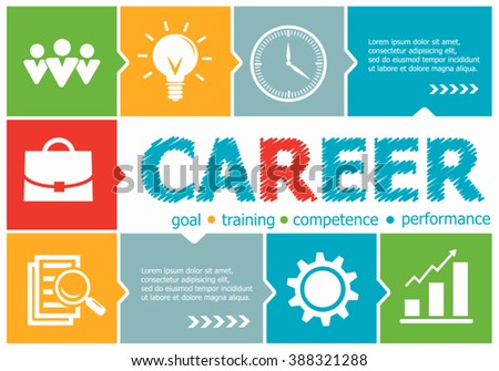 Career design illustration concepts for business, consulting, management, career. Career concepts for web banner and printed materials.