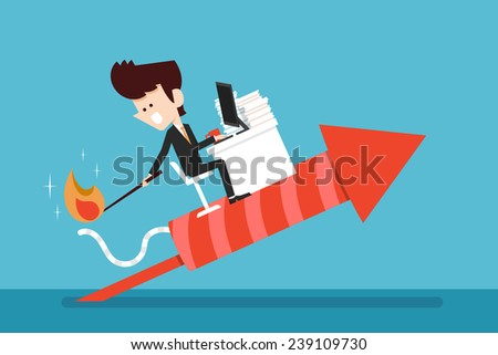 career development - stock vector