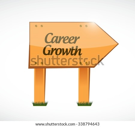 Career Growth wood sign concept illustration design graphic