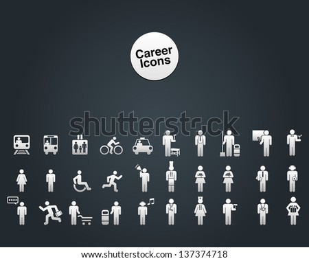 Career Icon - stock vector