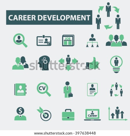 career icons  - stock vector