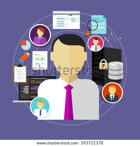Technical skills stock images royalty free images - Chief information technology officer ...