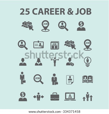 career, job, development  icons, signs vector concept set for infographics, mobile, website, application  - stock vector
