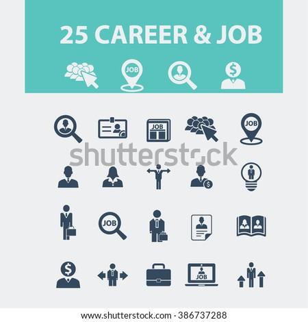 career job icons  - stock vector