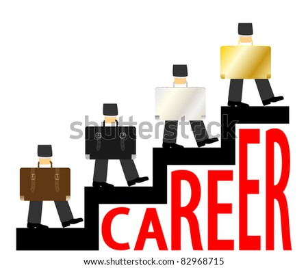 Career ladder. Vector - stock vector