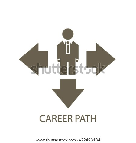 career path icon  - stock vector