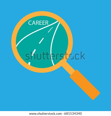 Career Path Search Find Sign Symbol Stock Vector 681534340