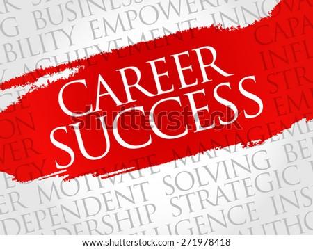 Career Success word cloud, business concept - stock vector