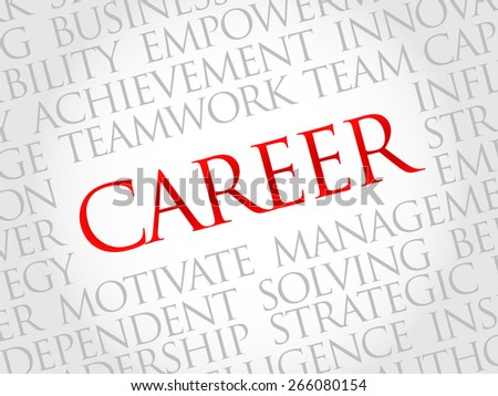 Career word cloud, business concept - stock vector