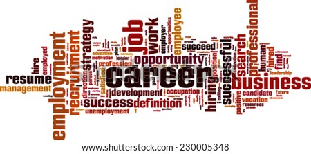 Career word cloud concept. Vector illustration - stock vector
