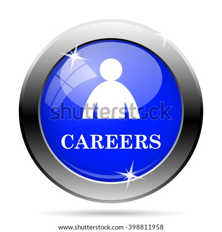 Careers icon. Internet button on white background. EPS10 vector - stock vector