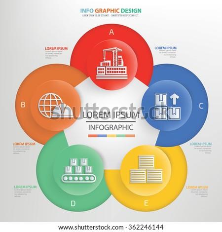 Cargo,shipping Infographics concept design,clean vector - stock vector