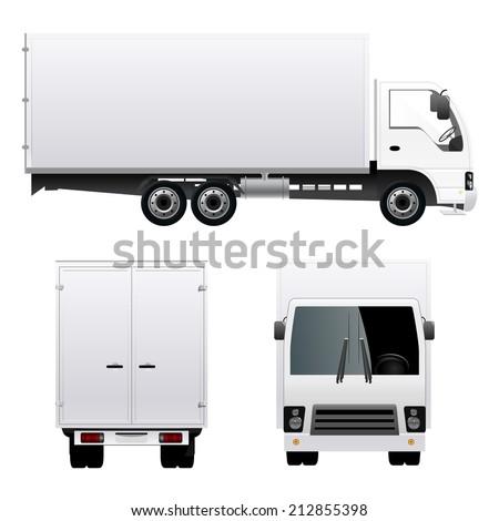 Cargo Truck Van - stock vector