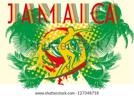 caribbean island vector art - stock vector