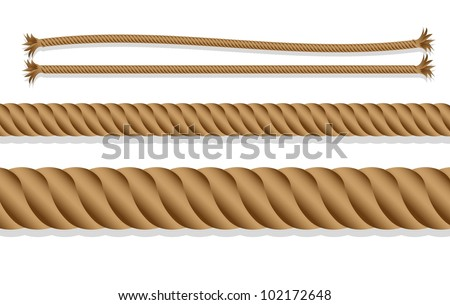 caricatures of braided rope over white background, vector illustration - stock vector
