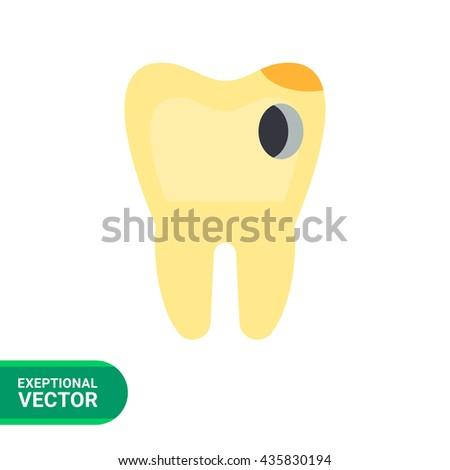 Caries Vector Icon - stock vector