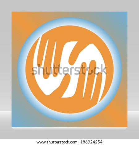 Caring hands design.  - stock vector