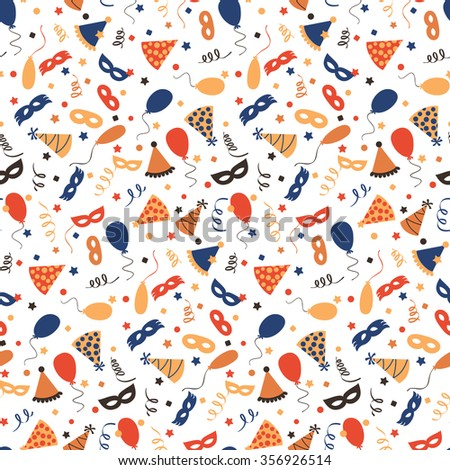 Carnival background - seamless pattern - stock vector