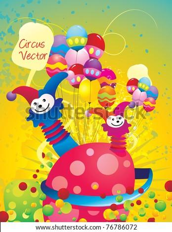 carnival circus abstract vector - stock vector