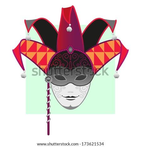 Carnival Mask-Masquerade,Mardi Gras,Jester - stock vector