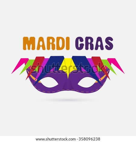 Carnival mask on a white background. - stock vector