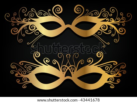 carnival mask set - stock vector