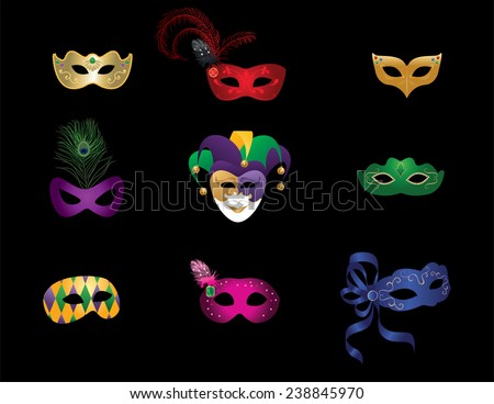 Carnival Masks - stock vector