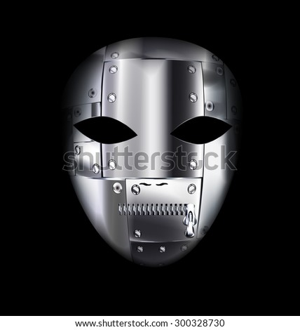 carnival metal mask - stock vector