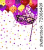 carnival party background - vector - stock vector