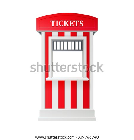 carnival ticket booth - stock vector