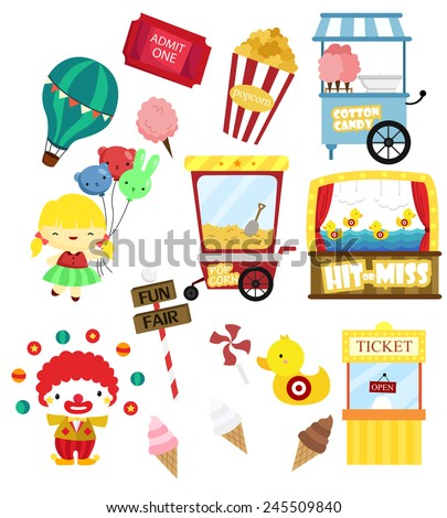 carnival vector set (no background) - stock vector