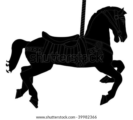Carousel horse silhouette clip art - photo#8