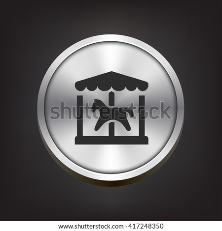 carousel icon. carousel sign - stock vector