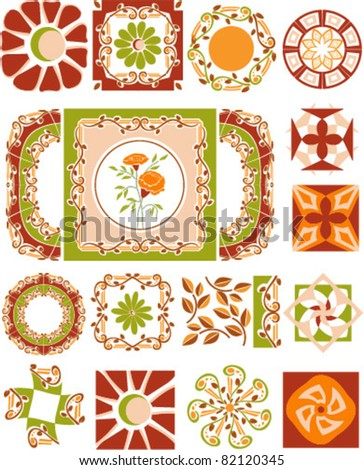 Carpet Border Frame Pattern christmas - stock vector