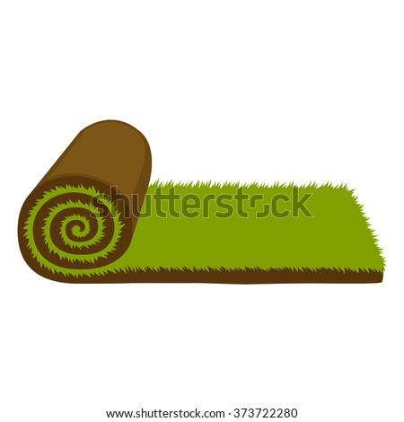 carpet roll vector. carpet lawn grass roll vector