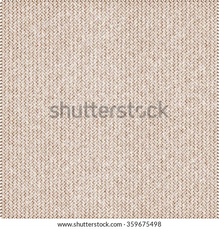 Carpet texture. Beige background with vertical stripes. Vector. - stock vector