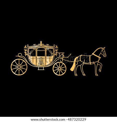 carriage golden silhouette horse vector horse stock vector free crown clipart for cricut free crown clipart png