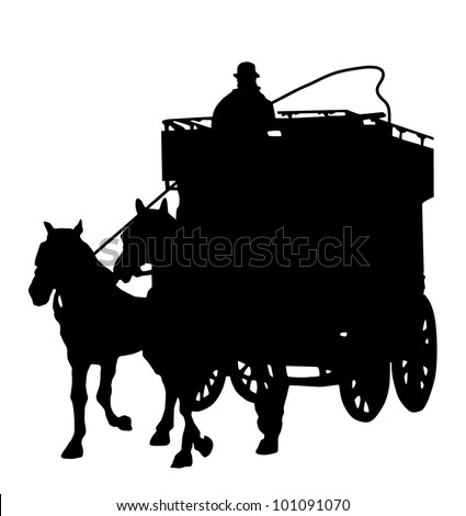Horse Carriage Silhouette Carriage Silhouette With a