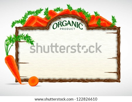 carrot menu board - stock vector