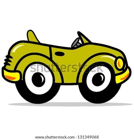 cars cartoon - stock vector
