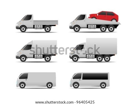 Cars collection - stock vector