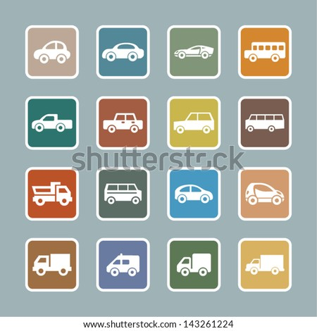 Cars pictogram - stock vector
