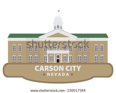 Carson city - stock vector