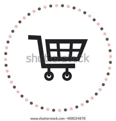 Cart for shopping, vector design element