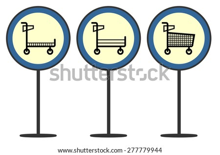 Cart signage - stock vector