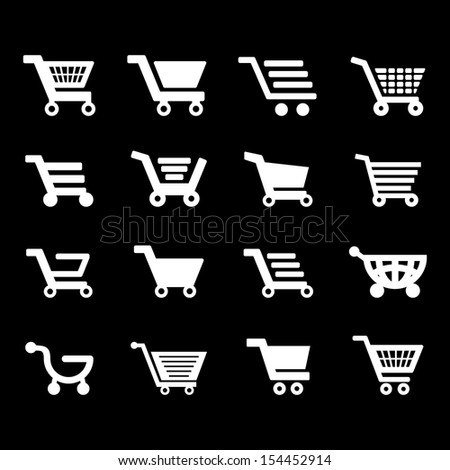 Cart vector - White