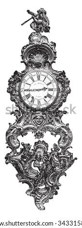 Cartel rockery, vintage engraved illustration. Industrial encyclopedia E.-O. Lami - 1875. - stock vector